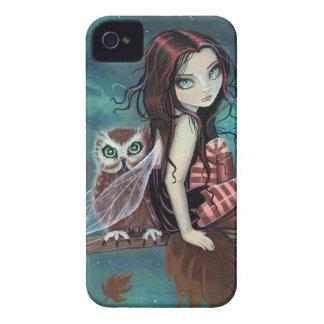 Cute Gothic Fairy and Owl Fantasy Art iPhone Case