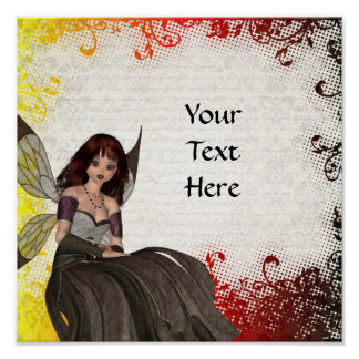 Cute Gothic fairy Posters
