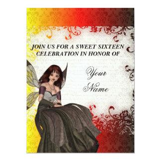 Cute Gothic fairy sweet sixteen 17 Cm X 22 Cm Invitation Card