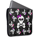 Cute Gothic Goodies Girly Girl Skull Laptop Sleeve