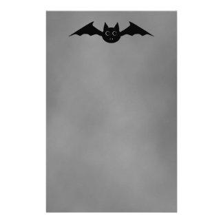 Cute gothic Halloween vampire bat with big eyes Customised Stationery