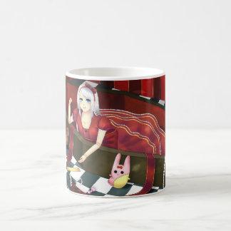 Cute gothic lolita puppet girl basic white mug