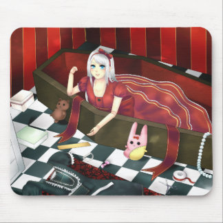 Cute gothic lolita puppet girl mouse pad