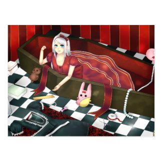 Cute gothic lolita puppet girl post cards