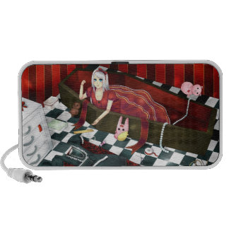 Cute gothic lolita puppet girl portable speaker