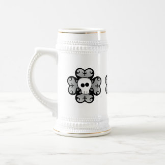 Cute gothic shamrock and skull St Patricks Day Beer Steins