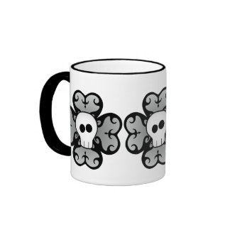 Cute gothic shamrock and skull St. Patrick's day Coffee Mugs