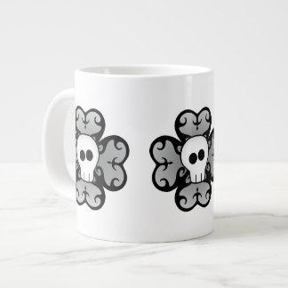 Cute gothic shamrock and skull St. Patrick's day Extra Large Mug