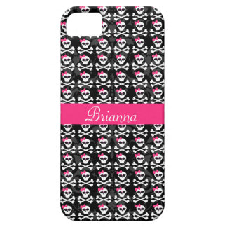 Cute Gothic Skull and Crossbones Girly Skulls iPhone 5 Cover