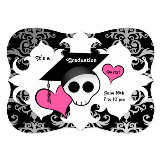 alternative purple gothic sugar skull wedding card