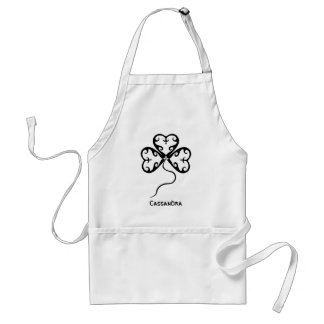Cute gothic victorian shamrock St. Patrick's Day Standard Apron