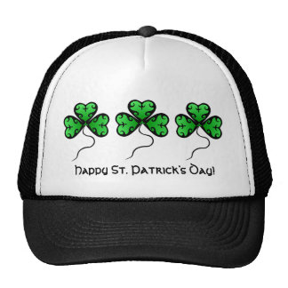 Cute gothic victorian shamrocks St. Patrick's Day Cap