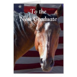 Cute Graduate Graduation Horse - Ranch Farm Greeting Card