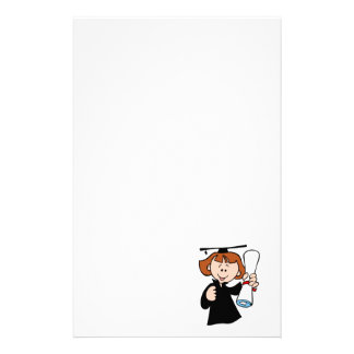 Cute Graduating Girl Customized Stationery
