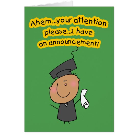 Cute Graduation Announcement Cards