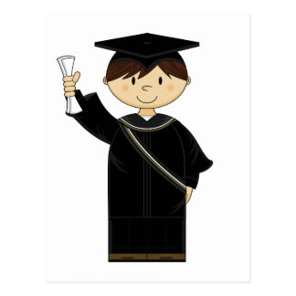 Cute Graduation Kid Postcard