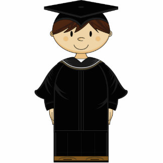 Cute Graduation Kid Sculpture Standing Photo Sculpture