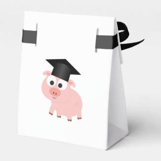 Cute Graduation Pig Favour Box