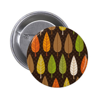 Cute graphic pattern with trees pinback buttons