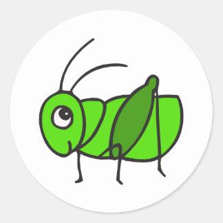 Cute Grasshopper Classic Round Sticker