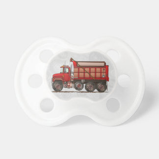 Cute Gravel dump truck Baby Pacifier