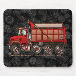 Cute Gravel Dump Truck Mouse Pad