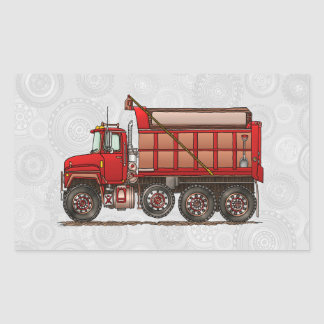 Cute Gravel Dump Truck Rectangular Sticker