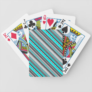 Cute gray aqua aztec patterns bicycle playing cards