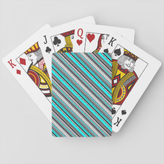 Cute gray aqua aztec patterns playing cards