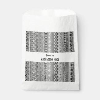 Cute gray aztec patterns design favour bags
