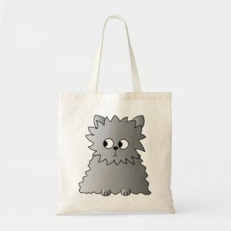Cute Gray Fluffy Cat. Tote Bag