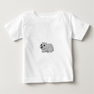 Cute Gray/Grey Cartoon Wombat Baby T-Shirt