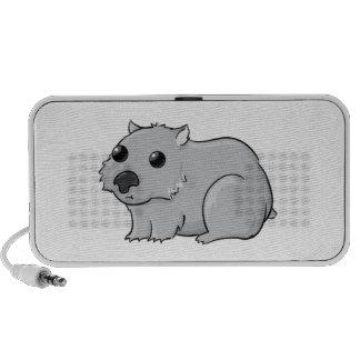 Cute Gray/Grey Cartoon Wombat Portable Speakers