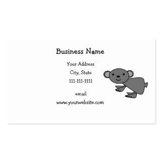 Cute gray koala business card