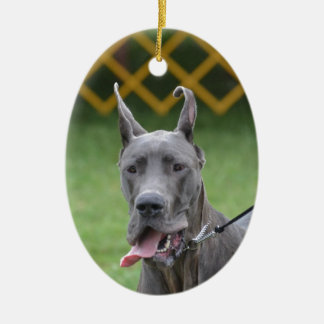 Cute Great Dane Christmas Ornament
