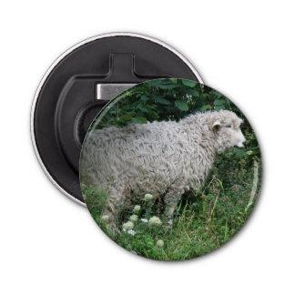 Cute Greedy Sheep Eating Bottle Opener Button Bottle Opener