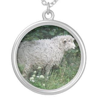 Cute Greedy Sheep Eating Necklace