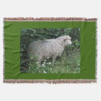 Cute Greedy Sheep Eating Throw Blanket
