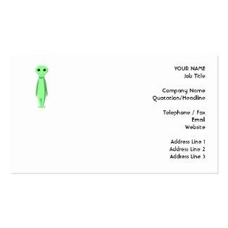 Cute Green Alien. Cartoon. Business Cards