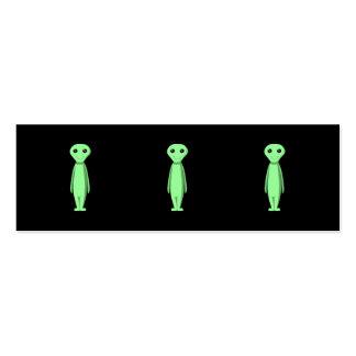 Cute Green Alien. Cartoon. Business Card