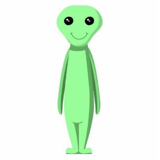 Cute Green Alien. Cartoon. Photo Sculpture Decoration