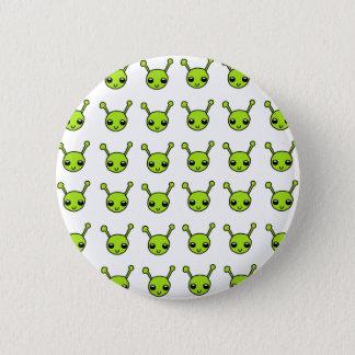 Cute Green Aliens 6 Cm Round Badge