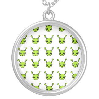 Cute Green Aliens Necklace