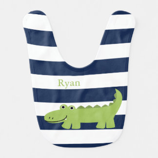 Cute Green Alligator Bib