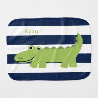 Cute Green Alligator Burp Cloth