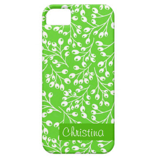 Cute green and white autumn berries iPhone 5 cover