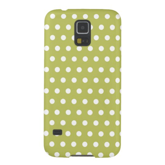 Cute Green and White Polka Dots Pattern Gifts Galaxy S5 Covers