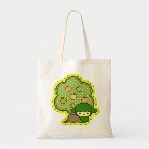 cute green apple tree polka dot kawaii baby pet bags zazzle