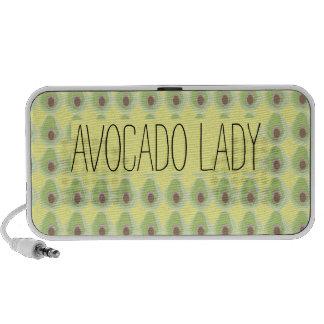 Cute Green Avocado Pattern Organic Vegetarian iPhone Speaker