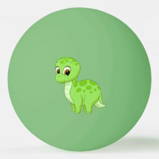 Cute Green Baby Brontosaurus Dinosaur Ping Pong Ball